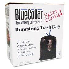 Bluecollar Drawstring Trash Bags, 40/Box