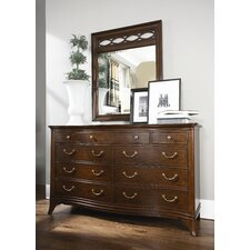 Cherry Grove New Generation Triple 9 Drawer Dresser with Mirror