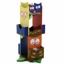 "Owls Revolving 30"" Bookcase"