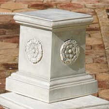 English Rosette Garden Sculptural Large Plinth