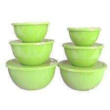 Calypso Basics 12 Piece Bowl Set in Lime