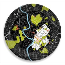 """City on a Plate 12"""" Rome Dinner Plate"""