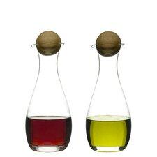 Öl- und Essigflaschenmit Stopfen aus Eichenholz (2er-Set)