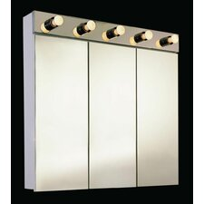 """Tri-View 36"""" X 34"""" Surface Mount Medicine Cabinet with Lighting"""