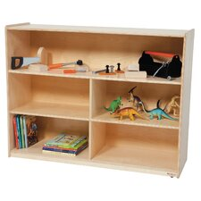Contender 4 Compartment Shelving Unit with Casters