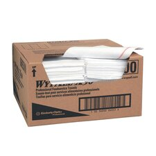 Wypall X50 Foodservice Wipers quarter fold in White