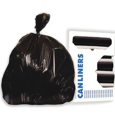 60-Gallon High-Density Can Liner in Black