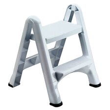 2-Step Folding Step Stool with 300 lb. Load Capacity