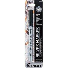 Silver Metallic Extra Fine Point Marker Pen (Set of 6)