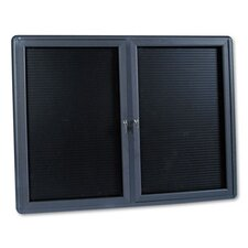 2-Door Enclosed Magnetic Letter Board, 3' H x 4' W