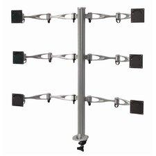 Height Adjustable 6 Screen Desk Mount