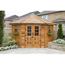 9 ft. W x 9 ft. D Wood Storage Shed