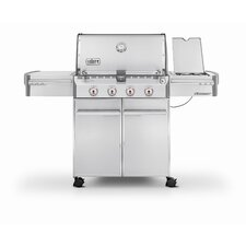 Summit® S-420 4-Burner Propane Gas Grill with Cabinet
