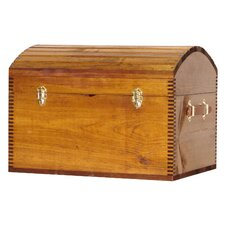 Deluxe Camel Back Trunk with Liftout Tray and Leather Handles