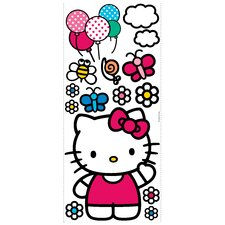 Popular Characters 15 Piece The World of Hello Kitty Giant Wall Decal