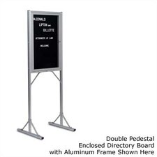 Double Pedestal Open Face Free-Standing Letter Board, 3' H x 2' W