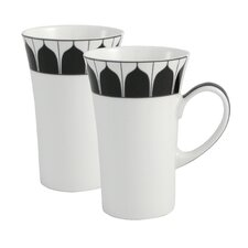 Mozart 2 Piece Bone China Latte Mug Set