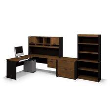 Innova L-Shape Computer Desk with Accessories