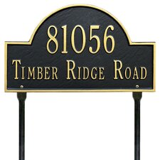 2-Line Lawn Address Sign