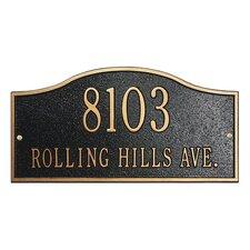 Rolling Hills 2-Line Wall Address Plaque