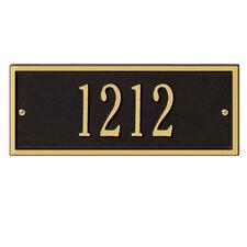 Hartford 1-Line Wall Address Plaque