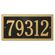 Bismark 1-Line Wall Address Plaque