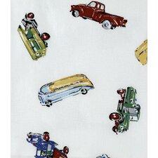 Car Shop Cotton Shower Curtain