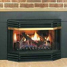 Fireplace Bay Front Assembly with Pull Screen
