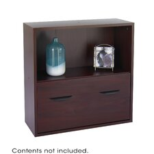 "Safco® Apres™ Modular Storage Shelf with Lower File Drawer 30"" Standard Bookcase"