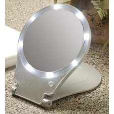 10x Lighted Round Travel and Home Mirror