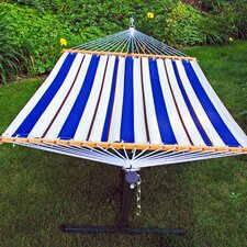 2 Piece Polyester Hammock with Stand Set