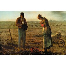 Angelus by Jean-François Millet Framed Painting Print on Wrapped Canvas