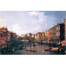 The Rialto Bridge by Canaletto Painting Print on Wrapped Canvas