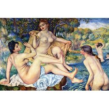 The Large Bathers by Pierre - August Renoir Painting Print on Wrapped Canvas