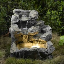 Resin/Fiberglass  Rock Creek Cascading Fountain with Light