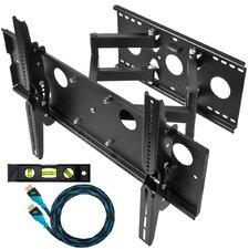 """Dual Extending Arm/Tilt Universal Wall Mount for 32"""" - 65"""" Screens"""