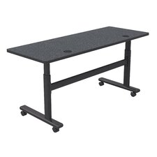 Height Adjustable Training Table with Wheels