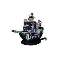 Halloween Inflatable Skeletons & Ghosts on Pirate Ship Decoration