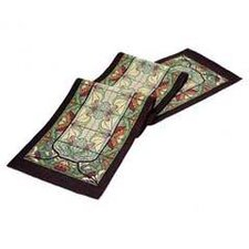 Arts and Crafts Thistle and Rose Bud Table Runner