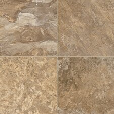 """Alterna Reserve 16"""" x 16"""" Engineered Stone Field Tile in Brown"""