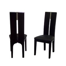 Avanti Genuine Leather Upholstered Dining Chair (Set of 2)