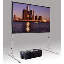 """Fast Fold Deluxe 188"""" Diagonal Portable Projection Screen"""