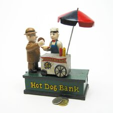 Hot Dog Collectors' Die Mechanical Coin Bank