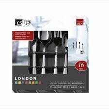 16 Piece Stainless Steel London Cutlery