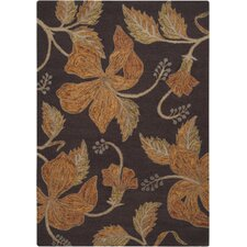 Blooming Hand-Woven Driftwood Brown Area Rug