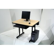 Classic Student Computer Table with Casters