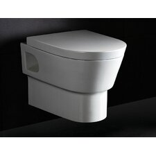 Square Modern Dual Flush Toilet Bowl