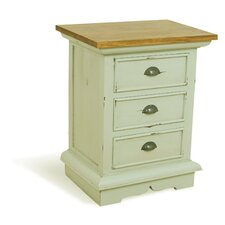 French Painted 3 Drawer Chest of Drawers