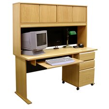 Office Modulars Computer Desk with 3 Drawers and 3 Pedestals