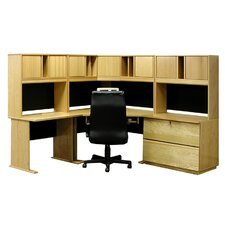 Office Modulars Executive Desk with 2 Drawers